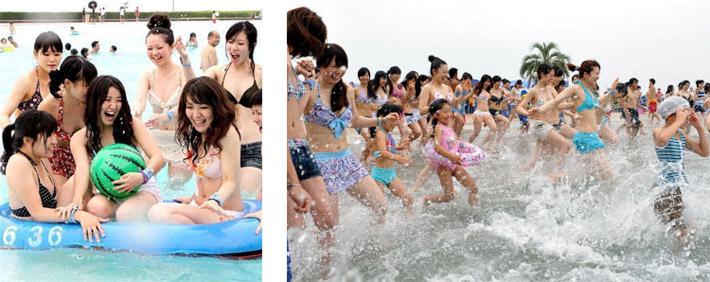 2011年7月3日大磯ロングビーチがプール開き